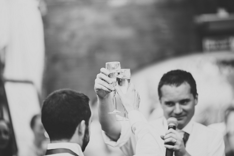 Wedding toast photo at Northbrook Park Kent