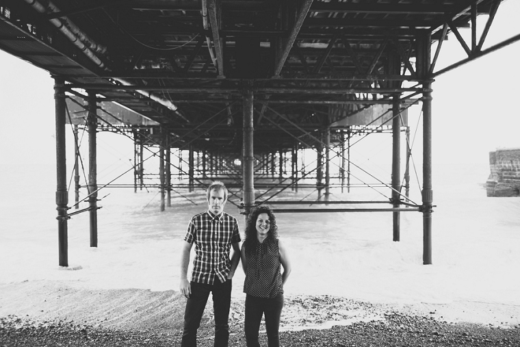 Kent wedding couple in Brighton for their engagement shoot