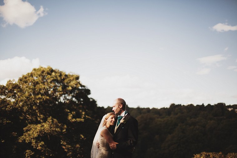 Wedding photograph of bride and groom at High Rocks in Kent