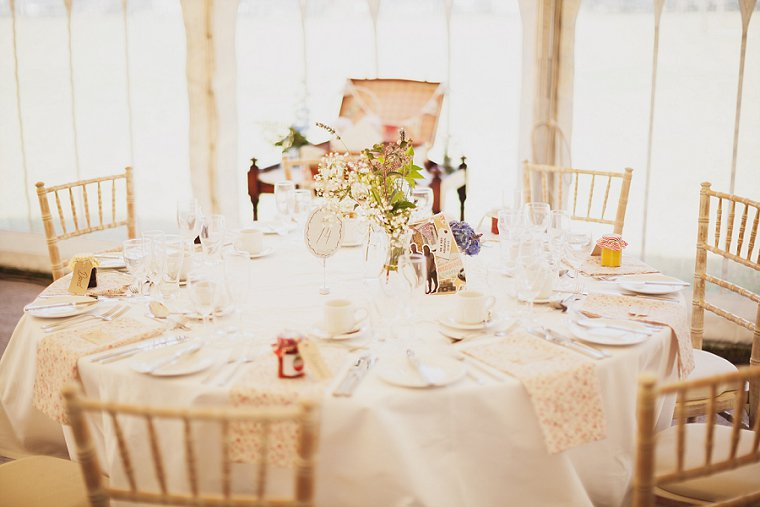 Beautifully decorated table for wedding reception