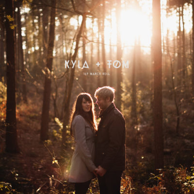 Photography of Kyla and Tom on their pre wedding shoot at Bedgebury Forest and Pinetum in Kent