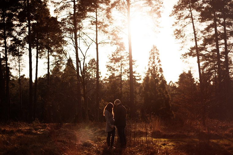 Photo of couple on pre wedding shoot holding hands