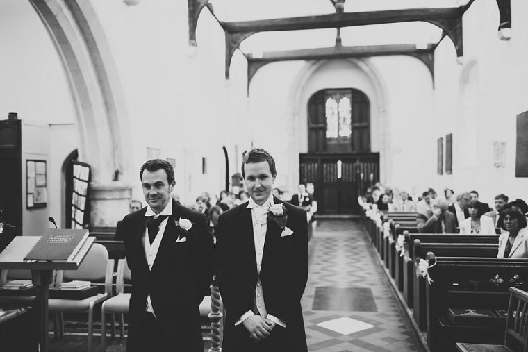 Groom and Best Man at the front of the church