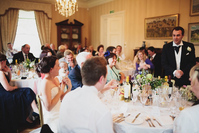 Wedding guests laughing at Mount Ephraim