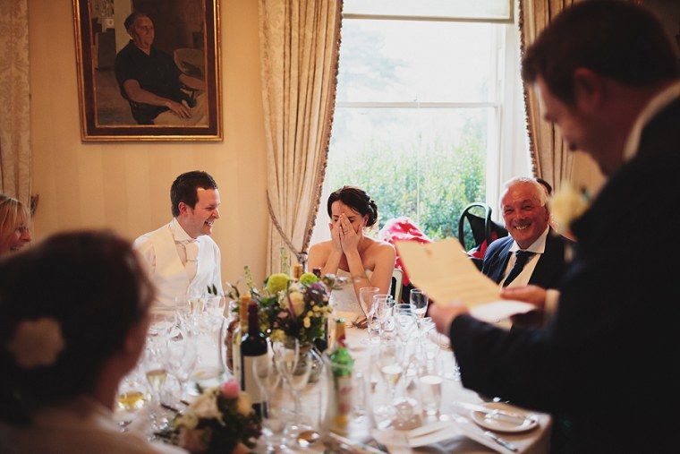 Wedding toast at Mount Ephraim Gardens