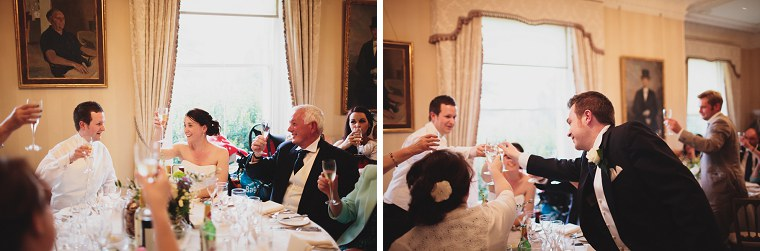 Wedding toast at Mount Ephraim Gardens in Kent