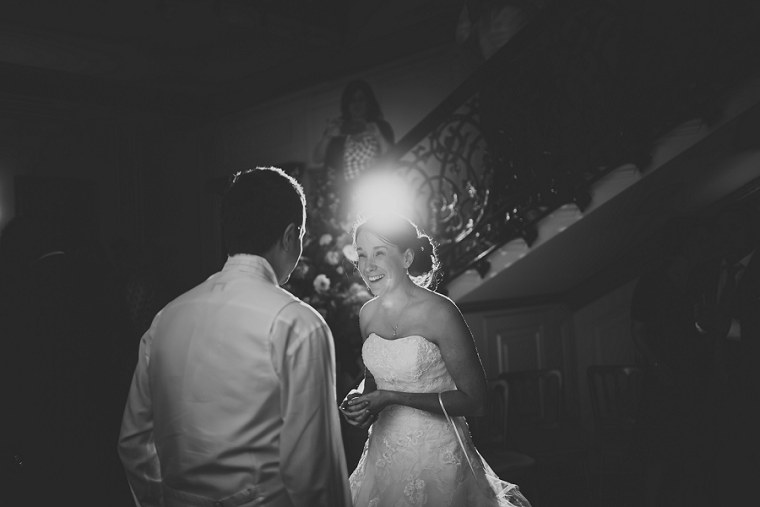Black and White Weding Photograph of first dance at Mount Ephraim Gardens