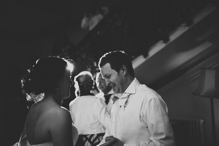 Bride and groom laughing during their first dance at Mount Ephraim Weddings in Kent