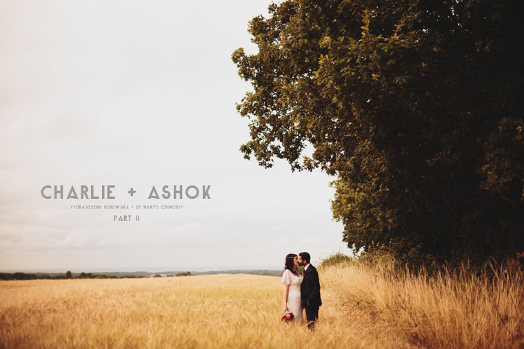 Wedding Photography of couple in field