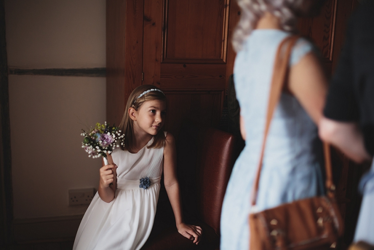Photo of bridesmaid at Chilham Village Hall wedding