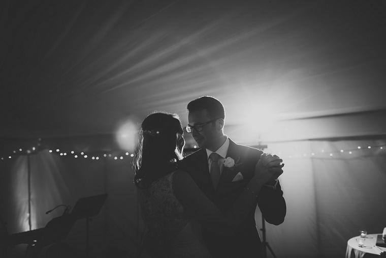 Bride and Groom First Dance at Falconhurst Wedding in Markbeech Kent