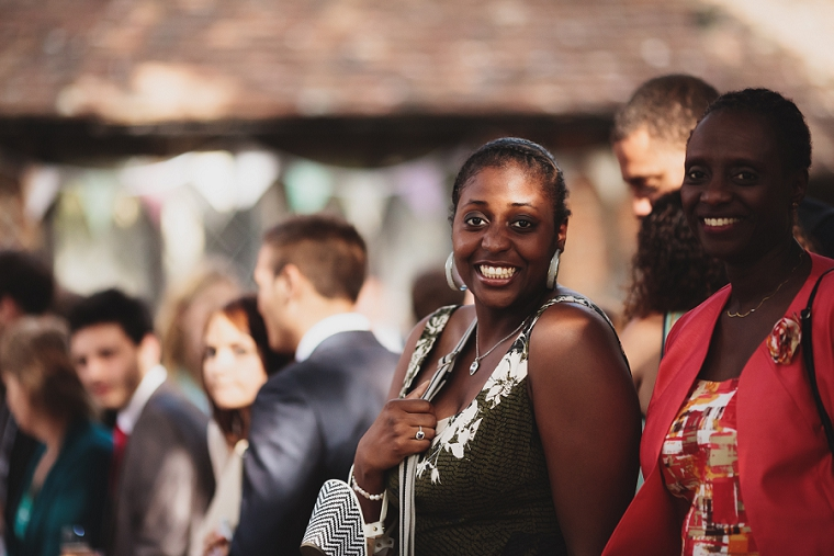 candid wedding guest photography at Chilham Village Hall