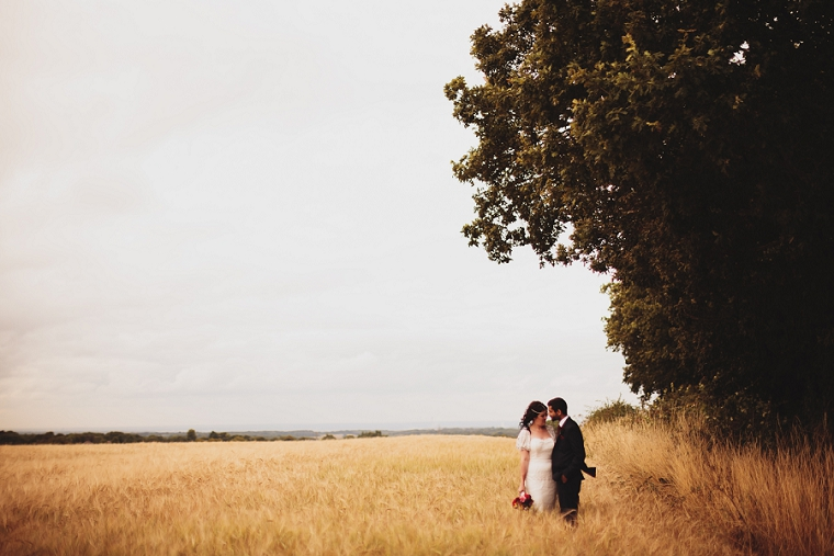 Wedding Photography in a corn field in Kent