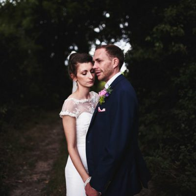 Portrait of bride and groom at Chapel Down Winery