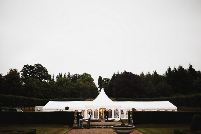 Marquee at Squerryes Court wedding venue
