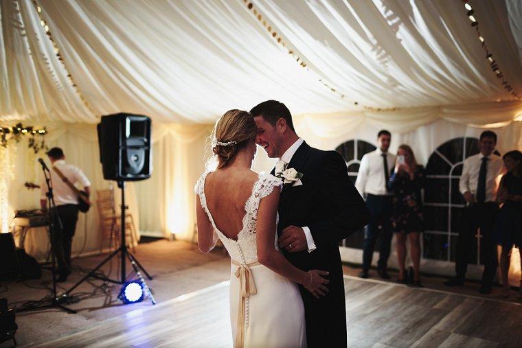 Bride and Groom first dance at Squerryes Court Wedding
