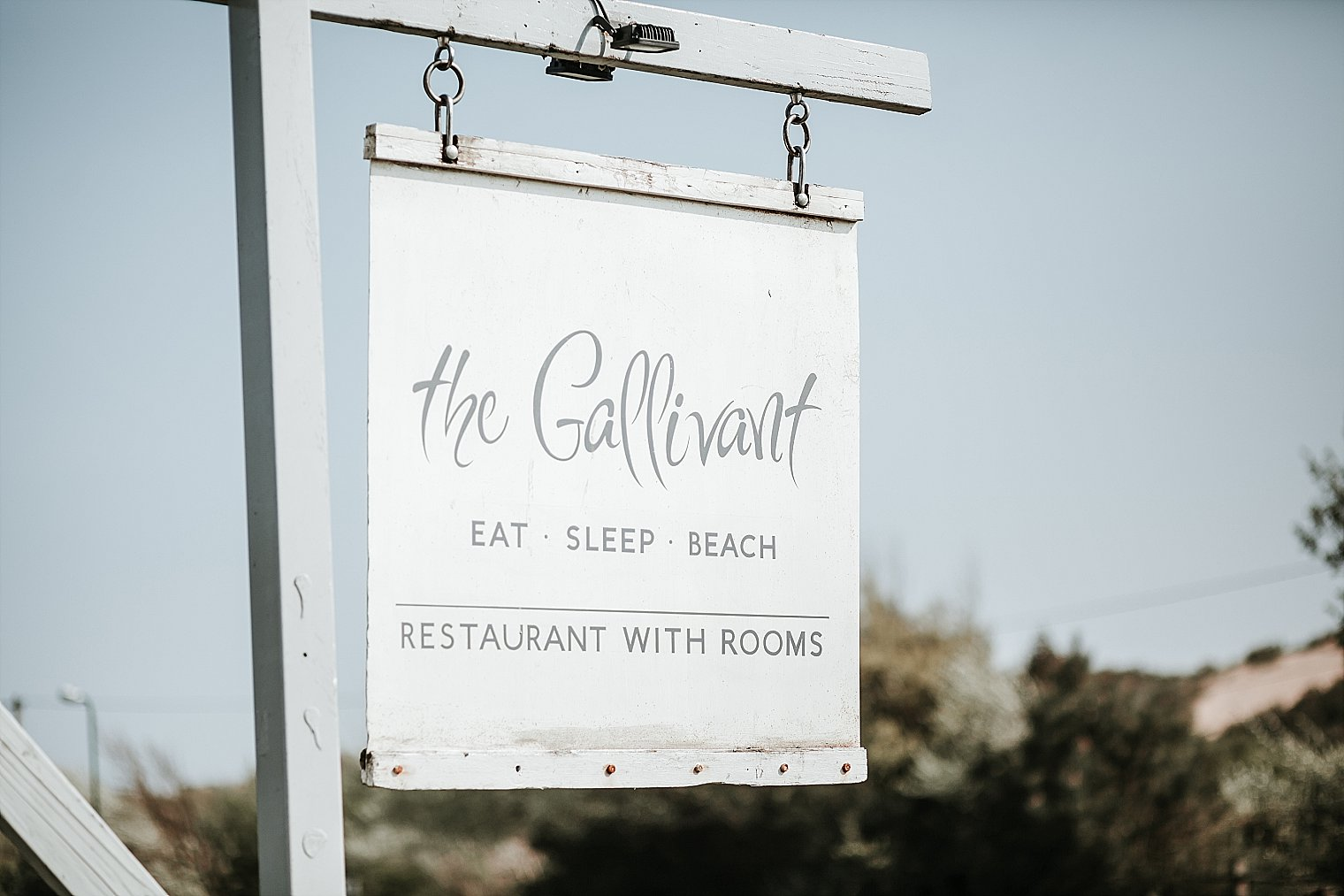 Sign for The Gallivant Wedding venue